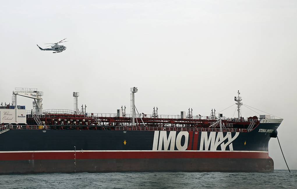 Iranian Revolutionary Guard commandos storm British tanker