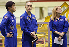 ISS Expedition 48/49 crew members, Takuya Onishi, Anatoly Ivanshin and Kathleen Rubins