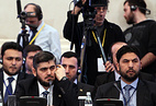 Syrian opposition delegation at talks in Astana