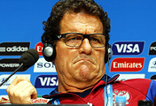 Russian national soccer team's Italian head coach Fabio Capello