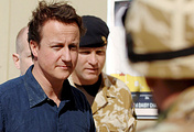British Prime Minister David Cameron (left)