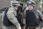 Oleksandr Turchynov seen in war-torn eastern Ukraine (archive)
