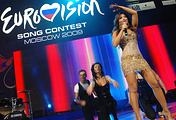 Ani Lorak representing Ukraine at the Eurovision song contest in 2009