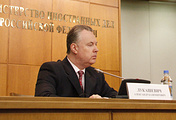 Russia's envoy to the European security agency Alexander Lukashevich