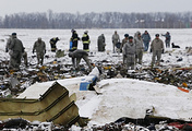 FlyDubai Boeing's crash site