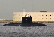Russia's Black Sea Fleet Rostov-on-Don submarine on return  from a mission in eastern Mediterranean where it launched Kalibr cruise missiles at targets in Syria
