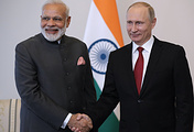 Indian Prime Minister Narendra Modi and Russian President Vladimir Putin