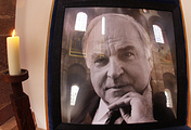 A picture showing late former German Chancellor Helmut Kohl in Speyer, Germany