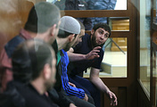 Suspects in the murder of Boris Nemtsov during a trial at the Moscow District Military Court