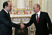 Vice-President of Iraq Nouri al-Maliki and Russian President Vladimir Putin