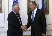 US State Secretary Rex Tillerson and Russian Foreign Minister Sergei Lavrov
