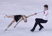 Russian figure skaters Alexandra Boykova and Dmitry Kozlovsky