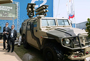 "Armored car ""Tiger"" with anti-tank missile complex ""Cornet-E"""