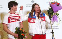 Snowboarders Vic Wild and Alena Zavarzina. Vic Wild, who acquired Russian citizenship, won two gold medals at the 2014 Winter Olympics. Alena Zavarzina won bronze medal in parallel giant slalom in Sochi