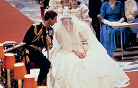 Britain's Prince Charles and Lady Diana Spencer shown on their wedding day at St. Paul's Cathedral in London, July 29, 1981