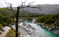 A view of the Katun River in the Chemal District of the Altai republic
