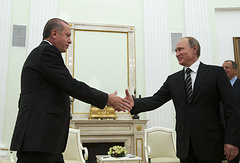 Turkish and Russian Presidents Recep Tayyip Erdogan and Vladimir Putin, 23 September 2015