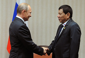 Russian President Vladimir Putin and President of the Philippines Rodrigo Duterte