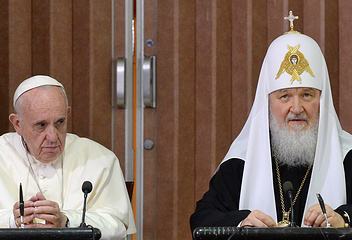 Pope Francis and Patriarch of Moscow and All Russia Kirill