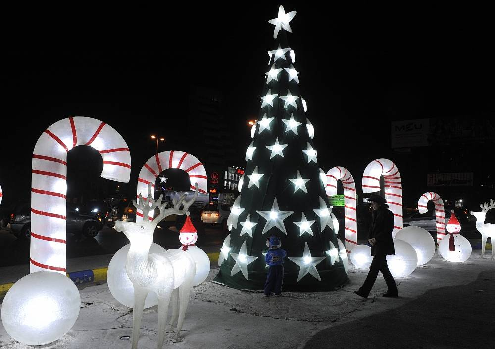 Christmas tree in Beirut