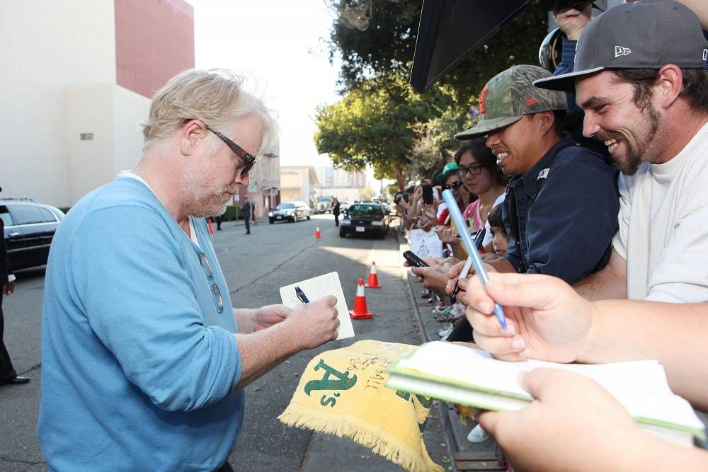 Though he was best known for his supporting roles, Hoffman had thousands of fans all over the world