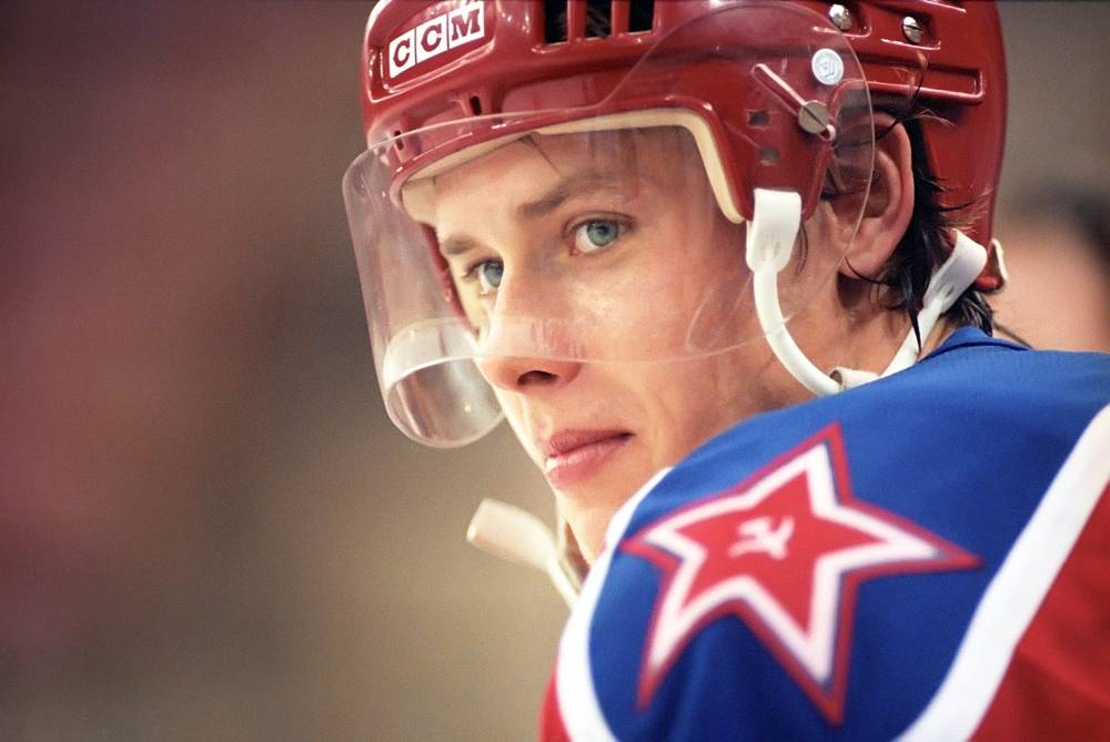 """Russian ice hockey player Pavel Bure called """"The Russian Rocket"""" for his speed, retired in 2003 following a knee injury"""