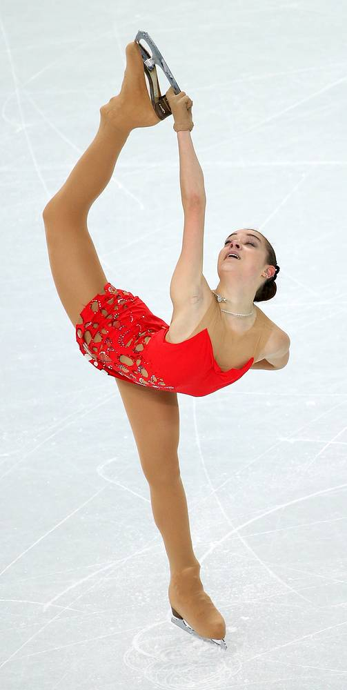 Adelina Sotnikova of Russia is second