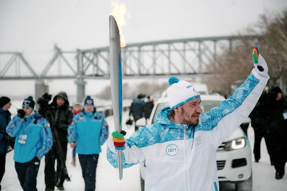 Paralympic torch relay in Novosibirsk