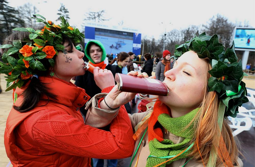 Saint Patrick's Day Parade in Moscow