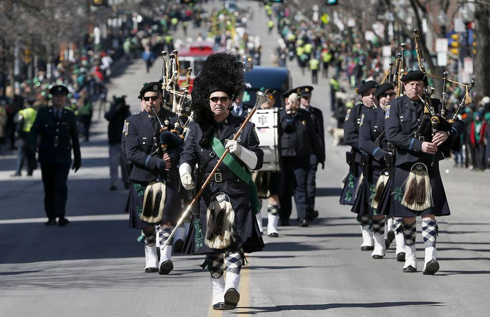 Saint Patrick's Day Parade in Boston, USA