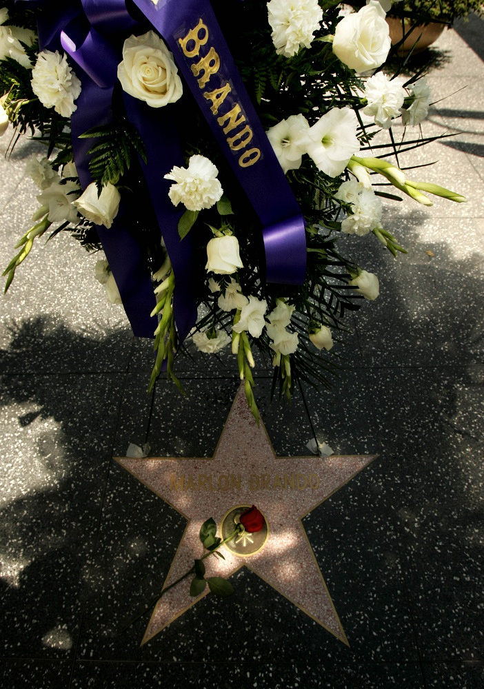 Marlon Brando died on July 1 2004 of a respiratory failure. His contribution to world cinematograph was marked by a star on the Walk of Fame in Hollywood