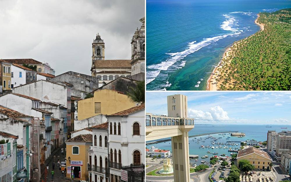 Salvador, the capital of Bahia, was founded in 1549 and today has a population of 2,6 mln people. One of the main sights is the  cable-railway you can travel around the city on