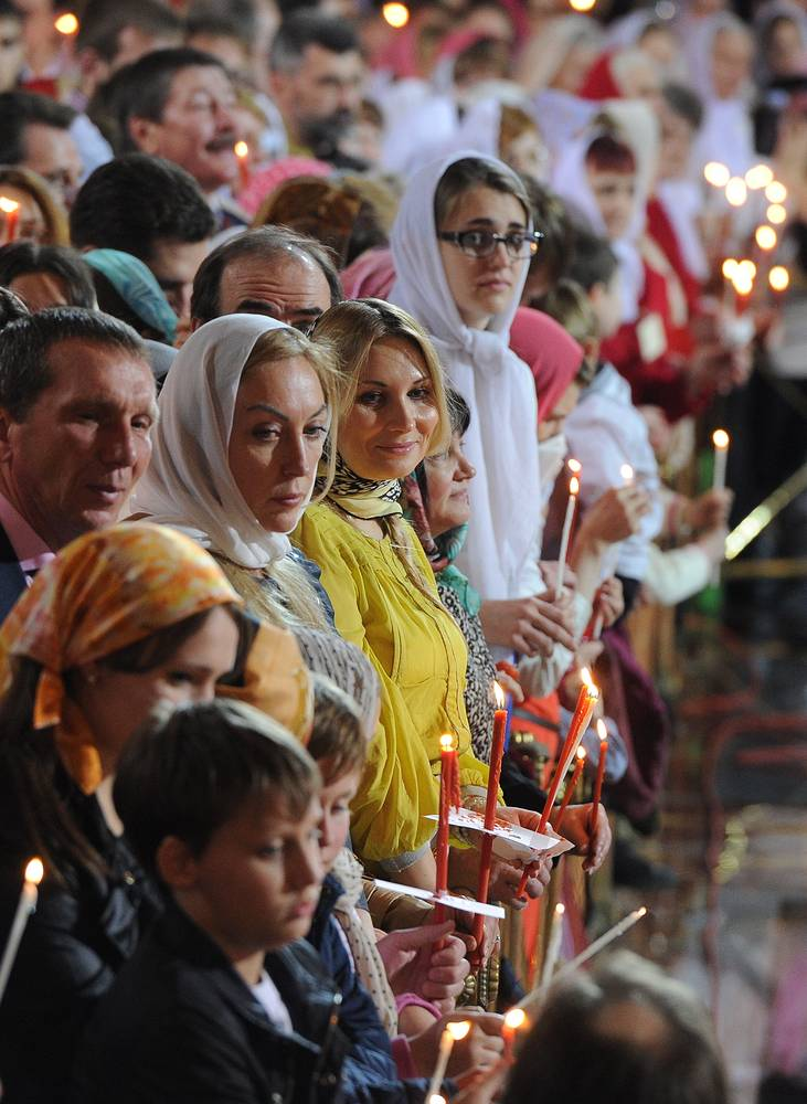 Easter vigil in Moscow