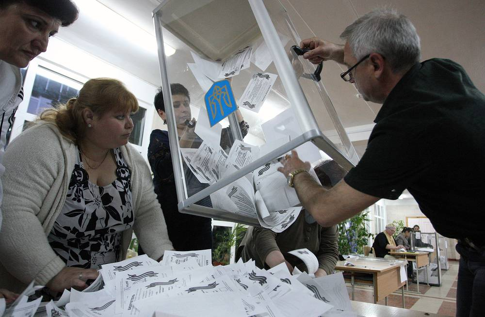 Vote count in Luhansk