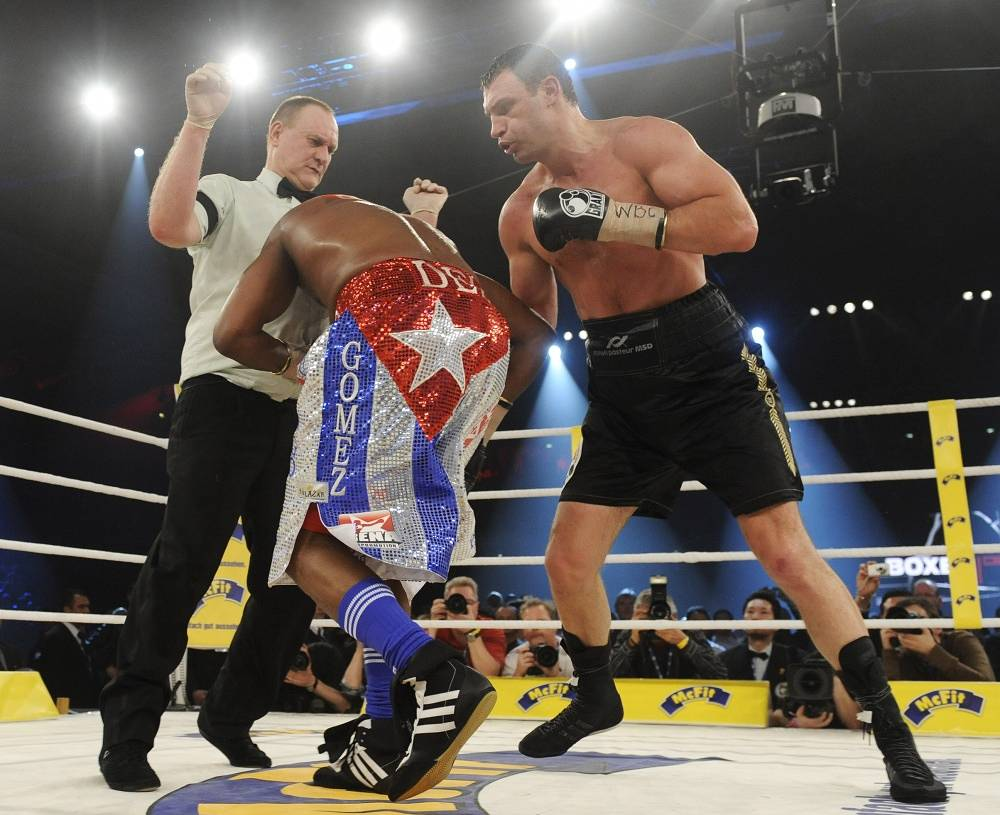 On March 21 2009 Klitschko by another technical knock out defeated Cuba's boxer Juan Carlos Gomez and won the WBC heavyweight Championship in Stuttgart, Germany