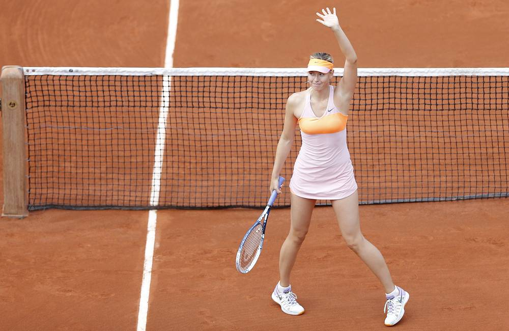In the third round Sharapova beat Argentina's Paula Ormaechea 6-0, 6-0