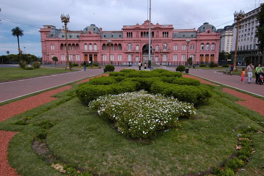 Argentina's presidential residence - the Casa Rosada (translated as 'the pink house') - in Buenos Aires is open for tourists on Saturday, Sunday and holidays from 10 a.m. to 6 p.m.