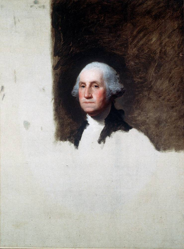 Portrait of the author of the Declaration of Independence and the first President of the US George Washington