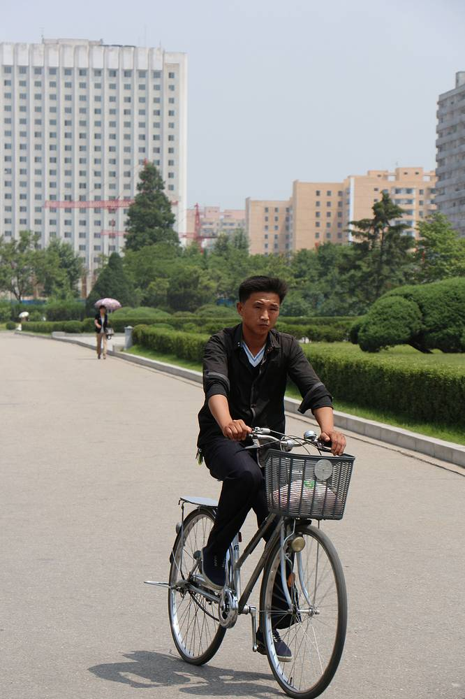 Before 1992, cycling was forbidden in Pyongyang. Today, it's gaining popularity