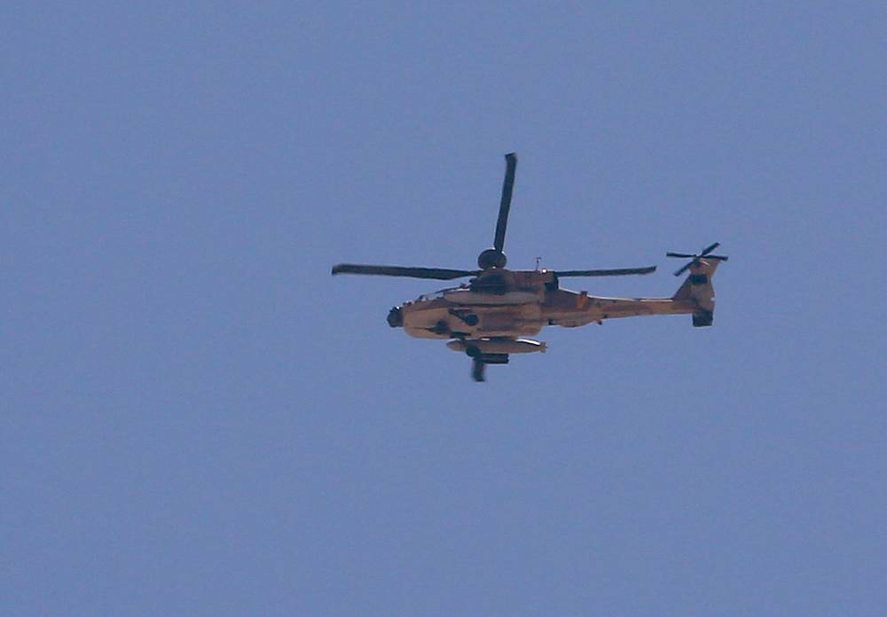 An Israeli combat helicopter