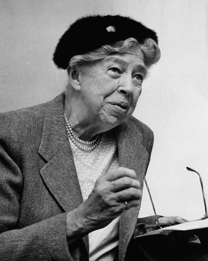 Eleanor Roosevelt, wife of President Franklin Delano Roosevelt, advocated equal rights for women, African-Americans and Depression-era workers. In 1945, she formulated the Universal Declaration of Human Rights as head of the UN Human Rights Commission