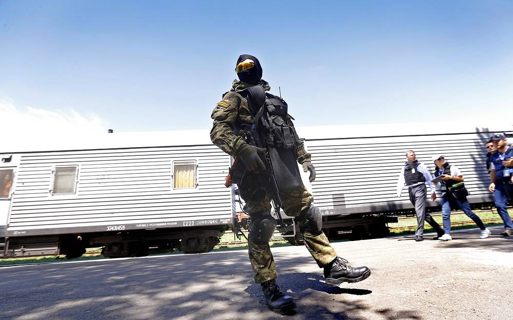 A train with bodies of Malaysian Boeing crash victims will leave the city of Torez, the Donetsk region on Monday evening