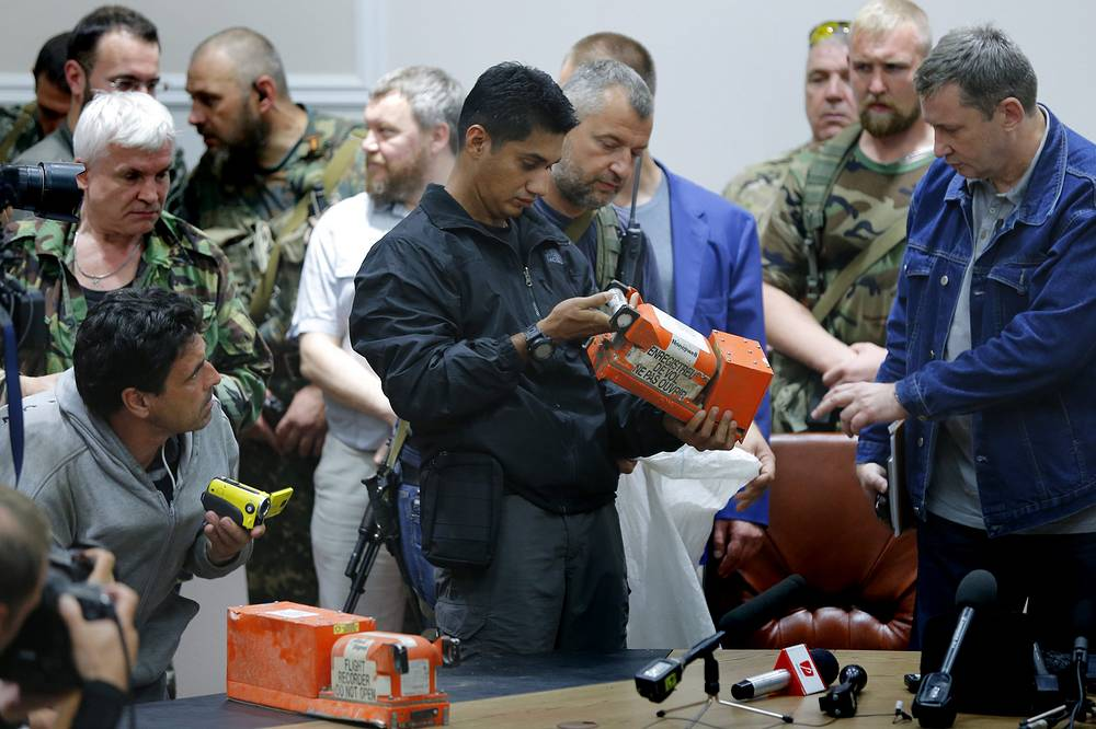 Two black boxes of the airliner were handed over to Malaysian experts for investigation purposes. The boxes have been delivered to the UK
