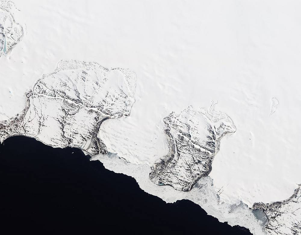 Roze Glacier seen on an island of the Novaya Zemlya archipelago