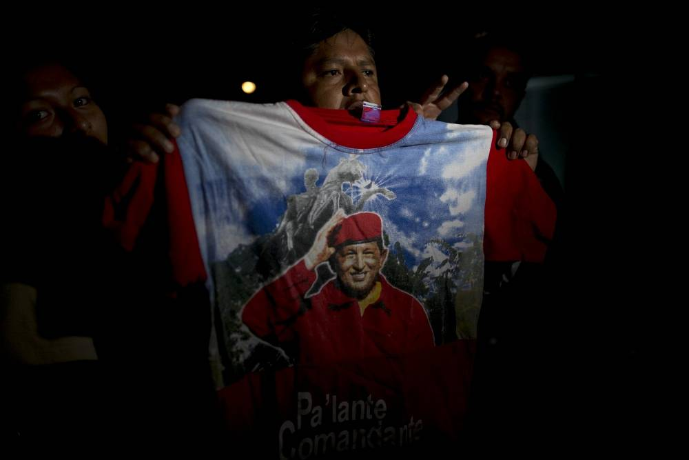 A supporter of Venezuela's President Hugo Chavez, 2013