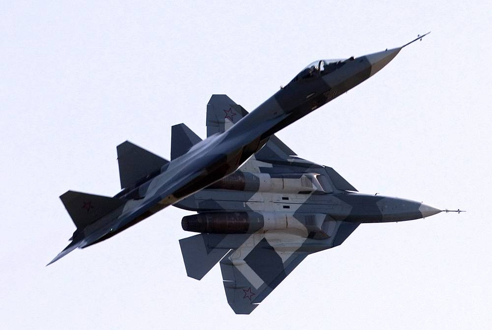 The Sukhoi T-50 is a fifth-generation fighter. The aircraft is the first in Russia's Air Force to use stealth technology