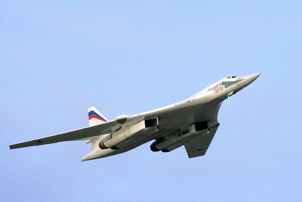 "The Tupolev Tu-160  supersonic strategic bomber was given the nickname of ""White Swan"". It's the largest supersonic aircraft in the world"