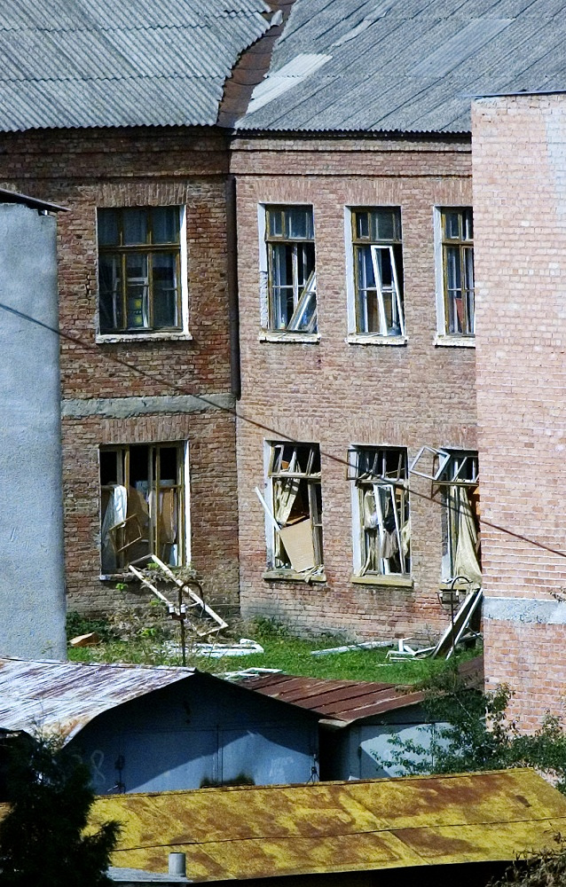The school where terrorists held hostages, September 2, 2004