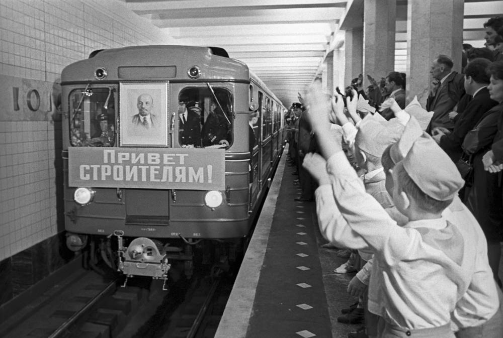 The Moscow Metro was one of the USSR's most extravagant architectural projects