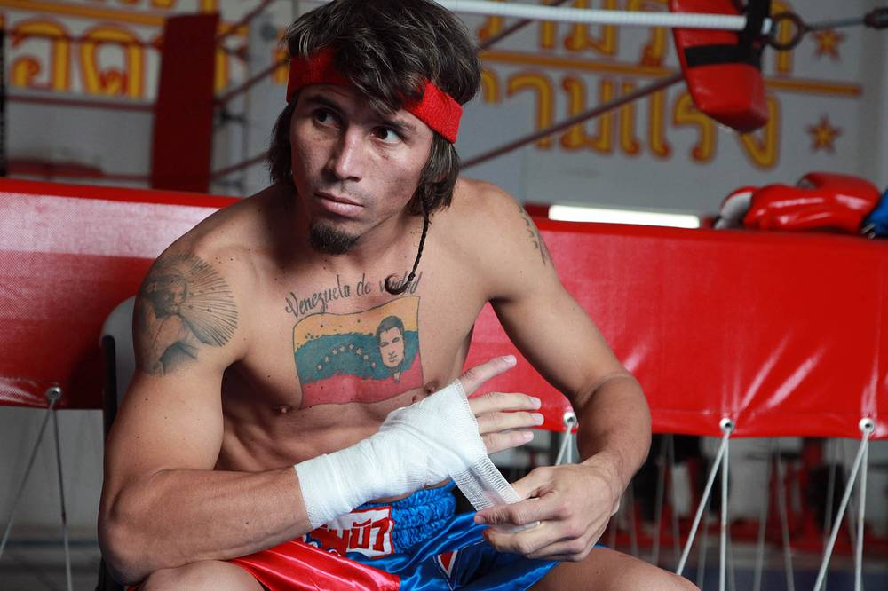 Former WBA Super Featherweight champion Edwin Valero known for his aggressive style and punching power was found guilty of murdering his wife, Carolina in 2010. He commited suicide next day after being taken to jail. Photo: boxer Edwin Valero, February 3, 2010, Monterrey, Mexico